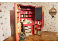 Laura Ashley Kitchen Larder Cupboard with Butchers Block
