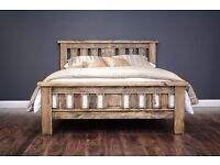 New solid chunky Elizabeth double bed frame ONLY £220