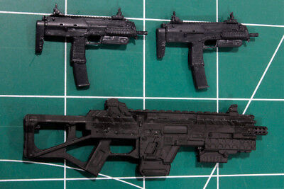 Custom Arsenal pack resin black cast 1:12 mp7