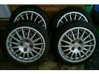 4 x Oz superturismo alloy wheels