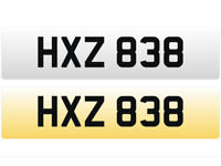 HXZ 838 – Price Includes DVLA Fees – Others Available - Cherished Personal Registration Number Plate