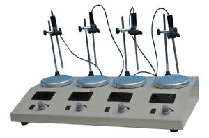 4Head Magnetic Stirrer with Hotplate Digital Mixer Lab Supply 110V 210054
