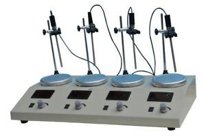 4Head Magnetic Stirrer with Hotplate Digital Mixer Lab Supply 110V 210054