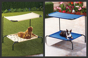 New pet bed dog with canopy paw prints 35x30x24 shade deck - Outdoor dog beds with canopy ...