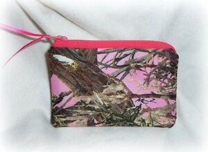 mossy oak real tree camo camouflage coin purse hunting sport country hot pink