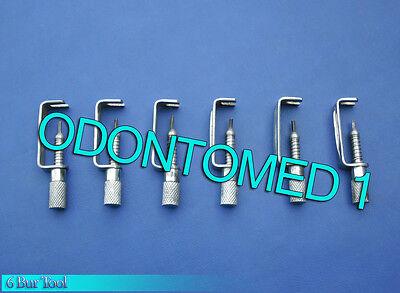 6 Bur Tool Surgical Dental Instruments