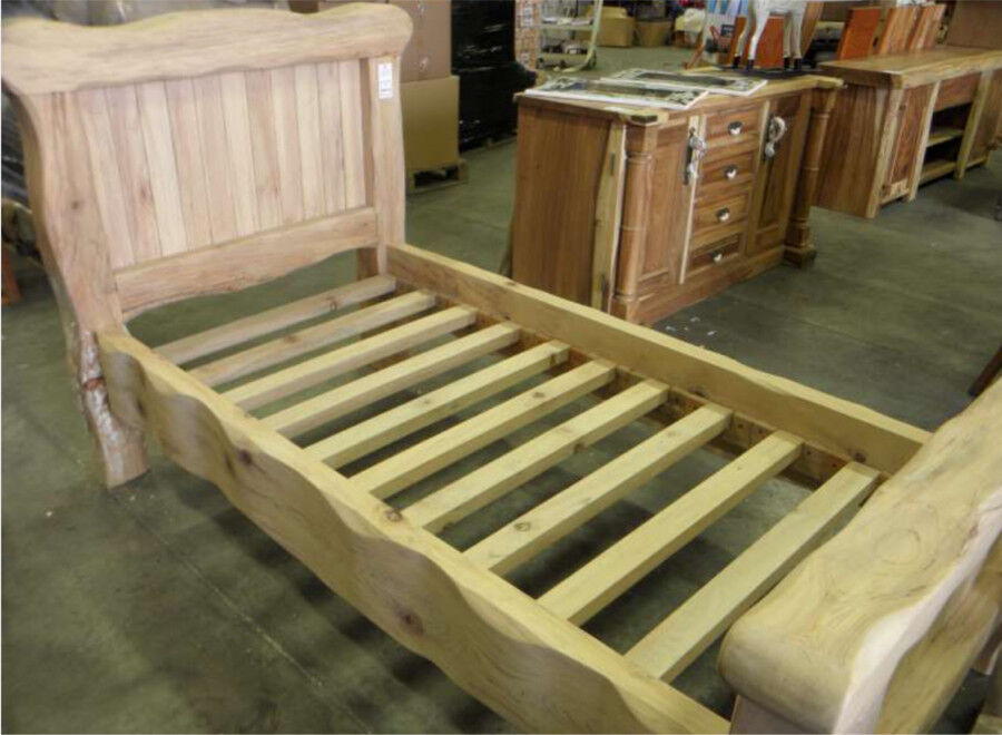 Fabulous chunky solid wooden bed