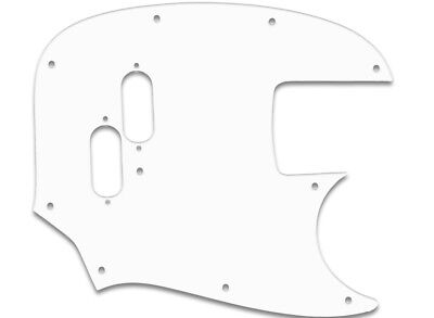 FENDER® WHITE WBW US HIGH QUALITY PICKGUARD TOP MUSTANG® REISSUE BASS 3PLY PG f