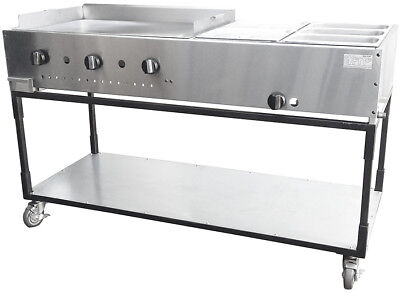 New. 60 Taco Cart. Griddle W Double Steam. Made In Usa By Ekono. Price Reduced