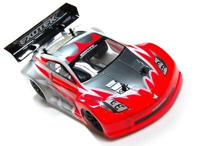 (Exotek Racing - GT-Z Clear Body Set, for Mini Apex Touring Car, Lexan w/ Wing)