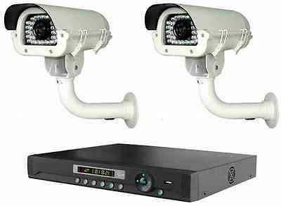 2 Long Distance 700TVL Wireless Cameras NightVision Transmit Up To 3,500FT + DVR ()