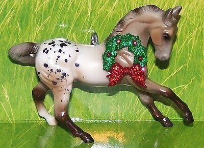 Custom Made Appaloosa Varnish Roan Warmblood Breyer Horse Christmas Ornament