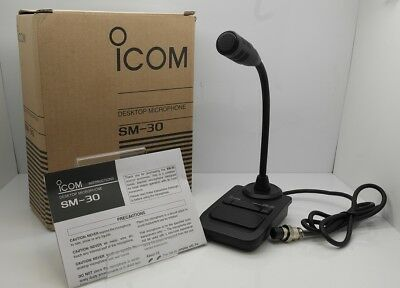 ICOM SM-30 Desktop Condenser Microphone Black Free Shipping From JAPAN NEW