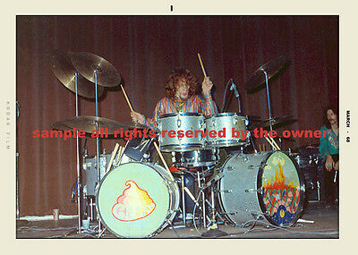 GINGER BAKER WITH CLAPTON  CREAM  REPRO SNAPSHOT 1968 2 MEMBERS  5 x 7  on Rummage