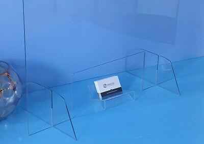 Spuck - / Schutzscheibe Schutzwand 100x70 cm, 4 mm Acrylglas Thekenaufsteller
