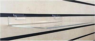 3 Clear Acrylic Slatwall Shelves 12 X 6-316 Inches Retail Display Or Home Use