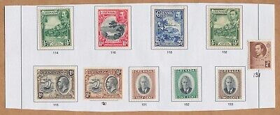 Grenada: 34 stamps mounted on part pages. Scott # range: 40 - 300. MH & used.