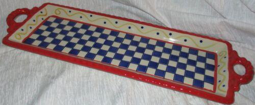 Rare Temp-Tations Bakeware Americana Red White & Blue Serving Tray - Prototype?