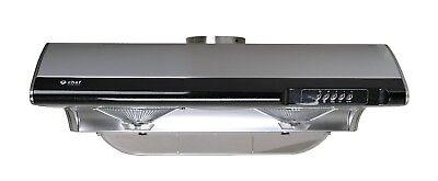 Chef C190 30'' Under Cabinet Range Hood w/750 CFM, 3 Speeds, Lamp, Top Rear Vent