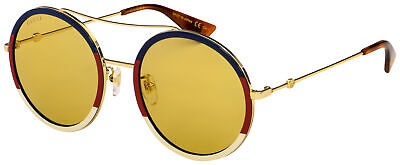 Gucci Sunglasses GG0061S 015 Gold Frame | Brown Lens