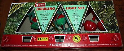 Vintage Christmas Tree ACLA Bubbling Light Set in Original Box