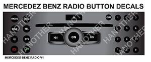 Mercedes benz matte black radio stereo button repair for Mercedes benz car radio repair