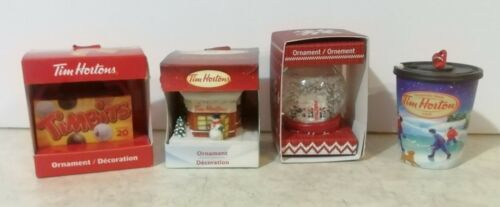 4 - Tim Hortons Limited Edition CHRISTMAS ORNAMENTS