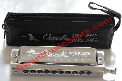 Swan Chromatic Harmonica 10 hole 40 tone, ( soft bag package) on Rummage