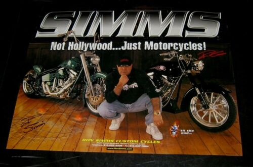 Original RON SIMMS CUSTOM CYCLES AUTOGRAPHED POSTER