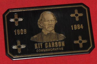 Colt Firearms Factory Kit Carson Commemorative Display Case Plaque