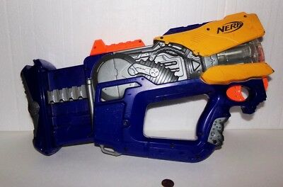 Nerf N-Strike Firefly Rev-8 Rotating Barrel Dart Blaster Gun, Blue