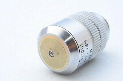 Leitz Npl Fluotar 100x1.32-0.60 1600.17 Oil Microscope Objective 20.25 21197