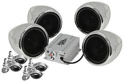 Boss Audio MC470B Motorcycle ATV Bluetooth Amp & Speakers 1000 watt Stereo