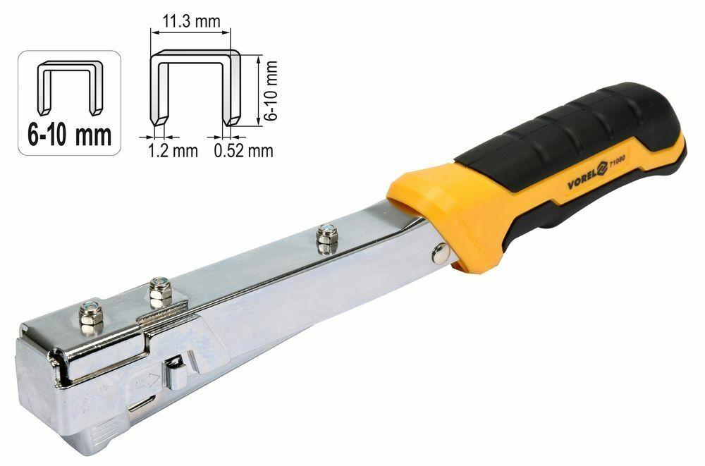 Hammer-Tacker Nagler Hefter Hand-Tacker Tacker-Gerät Schlagtacker 6-10mm