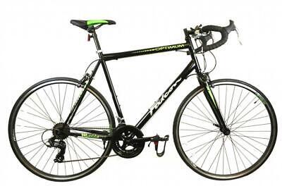 Falcon Optimum Gents 700c 14 Speed Road Racing Bike Cycle Black & Green 3 Sizes