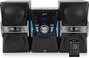 Ilive Bluetooth Home Music System Remote CD FM Stereo USB 3.5mm Black IHB613B