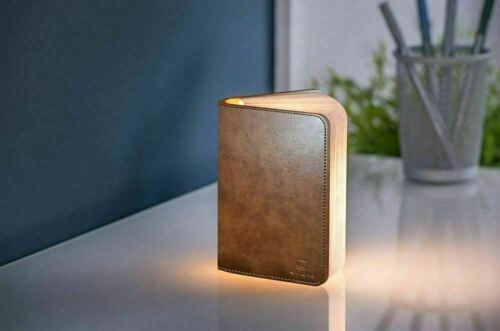 Gingko+LED+Book+Light+Mini+Leather+Effect+Rechargeable+USB+Charger+