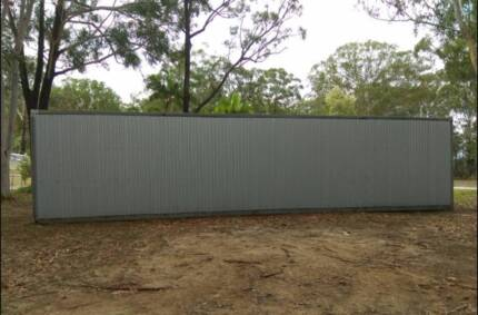 Cleared block WITH 40ft shipping Container home