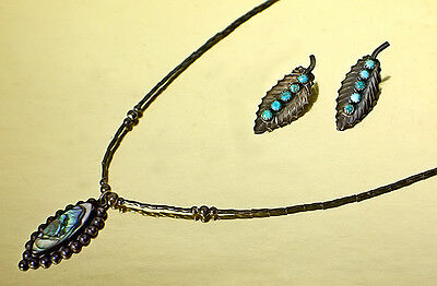 VINTAGE STERLING MEXICAN JEWELRY SET