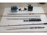 Mixed lot of fishing tackle