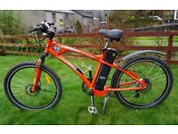 2014 Used Freego Martin Sport electric mountain bike 20ah battery up to 100 mile range