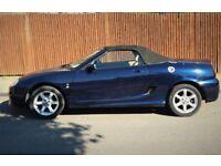 MG TF 135 Ps 1.8 petrol manual Convertible 2004 Blue 75150 miles