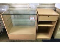 Used glass counter and till stand unit. Second hand. Good condition