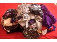 A huge bundle of women's clothes tops, cardigans, jumpers etc some from Dorothy Perkins and New Look
