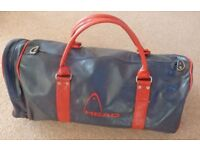 Vintage classic Soft Leather Head Gym/ Travel Holdall