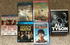Selection of Blu-ray and dvds