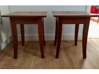Pair of solid wood bedside tables £30