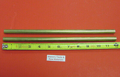 2 Pieces 916 C360 Brass Solid Round Rod 12 Long Lathe Bar Stock 12 Hard .562