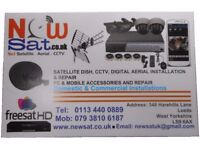 Satellite dish / tv aerial / sky dish/ CCTV / TV wall mounting installation repair cables from £25