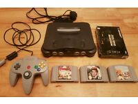 Nintendo 64 N64 Console - Memory Expansion - 3 Games - Controller